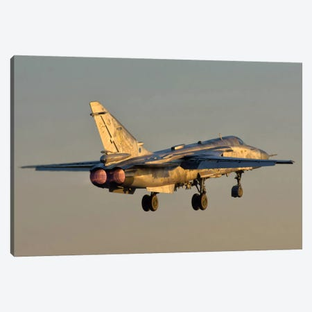 Ukrainian Air Force Su-24 During Training Deployment Canvas Print #TRK289} by Giovanni Colla Canvas Print
