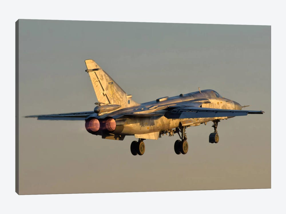 Ukrainian Air Force Su-24 During Training Deployment by Giovanni Colla 1-piece Canvas Art Print