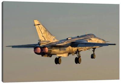 Ukrainian Air Force Su-24 During Training Deployment Canvas Art Print
