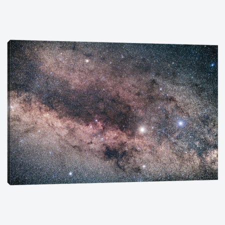 Alpha And Beta Centauri And The Dark Lanes Of Centaurus In The Southern Milky Way. Canvas Print #TRK2908} by Alan Dyer Art Print