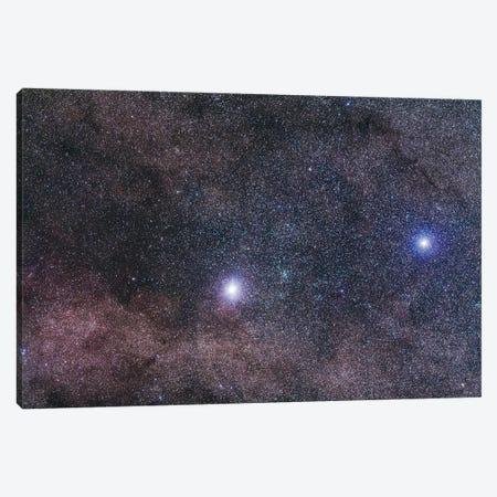 Alpha And Beta Centauri In Centaurus. Canvas Print #TRK2909} by Alan Dyer Canvas Print
