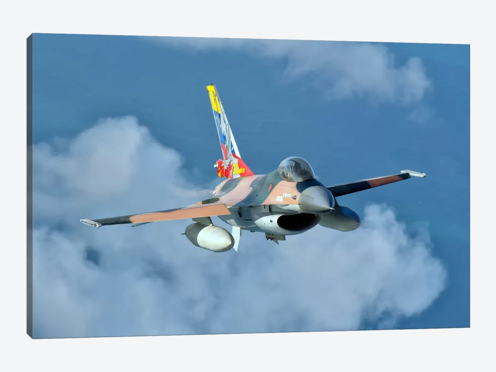 Venezuelan Air Force F-16 In Flight Over Brazil by Giovanni Colla 1-piece Canvas Art