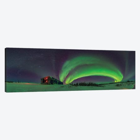 Arc Of The Auroral Oval And The Winter Sky In Churchill, Manitoba, Canada. Canvas Print #TRK2921} by Alan Dyer Art Print