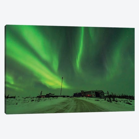 Aurora And Cassiopeia Over The Churchill Northern Studies Centre In Canada. Canvas Print #TRK2926} by Alan Dyer Canvas Art
