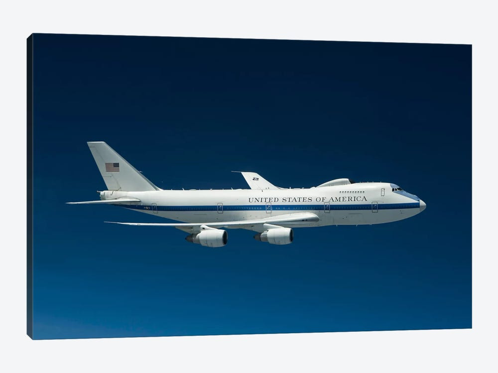 An E-4B National Airborne Operations Center Aircraft by HIGH-G Productions 1-piece Art Print