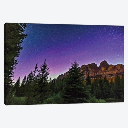 Big Dipper Over Castle Mountain In Banff National Park, Alberta, Canada. Canvas Print #TRK2951} by Alan Dyer Canvas Artwork