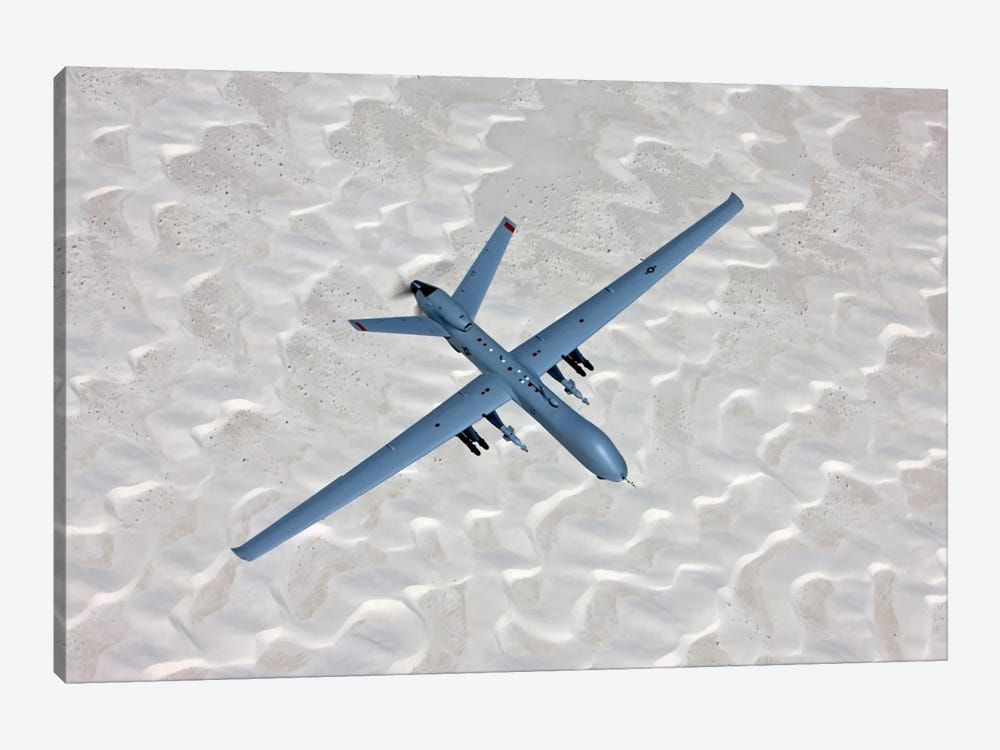 An MQ-9 Reaper Flies A Training Mission Over Southern New Mexico by HIGH-G Productions 1-piece Canvas Artwork