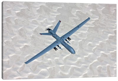An MQ-9 Reaper Flies A Training Mission Over Southern New Mexico Canvas Art Print