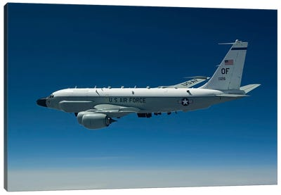 An RC-135W Rivet Joint Aircraft Flies Over The Midwest Canvas Art Print