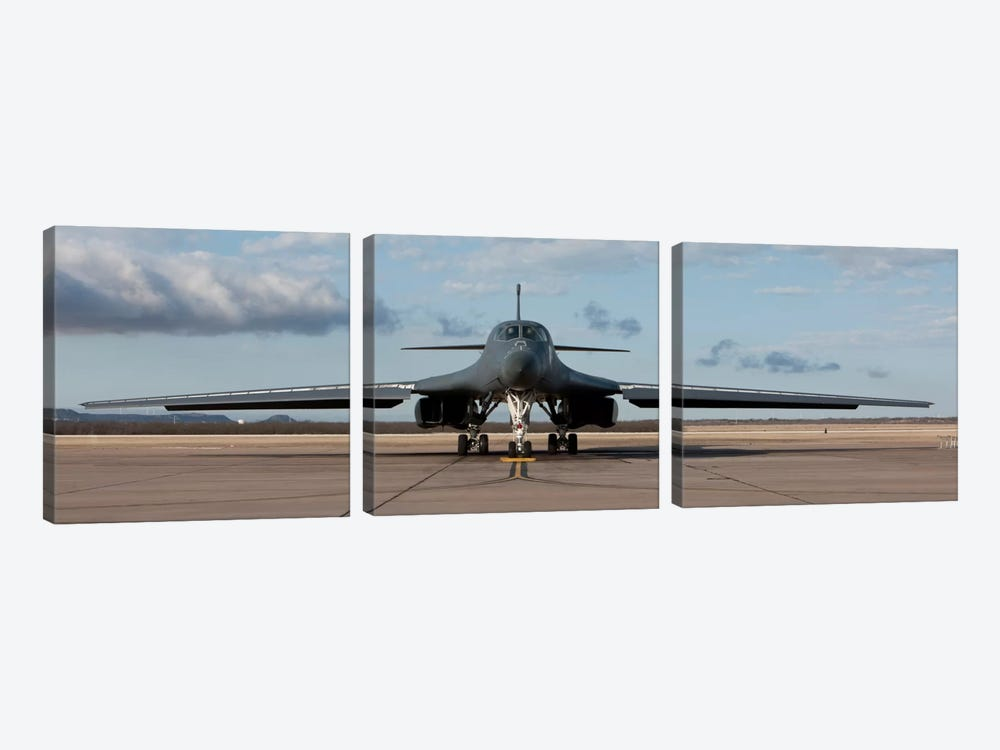 B-1B Lancer At Dyess Air Force Base, Texas by HIGH-G Productions 3-piece Canvas Artwork