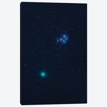 Comet Wirtanen 46P Passing Near The Pleiades Star Cluster. Canvas Print #TRK2985} by Alan Dyer Canvas Artwork