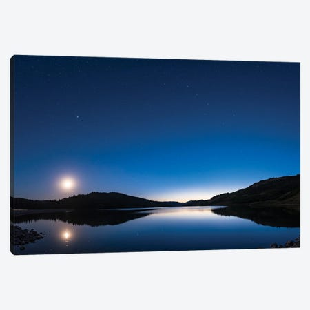 Deep Twilight At Reesor Lake In The Cypress Hills Of Southeast Alberta, Canada. Canvas Print #TRK2994} by Alan Dyer Canvas Print