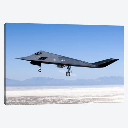 F-117 Nighthawk Flies A Training Sortie Over New Mexico Canvas Print #TRK299} by HIGH-G Productions Canvas Artwork