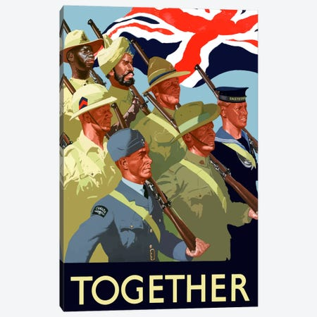 Multinational War Effort Poster Canvas Print #TRK29} by John Parrot Canvas Wall Art