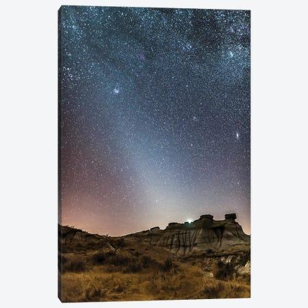 Evening Zodiacal Light From Dinosaur Provincial Park, Alberta, Canada. Canvas Print #TRK3003} by Alan Dyer Art Print