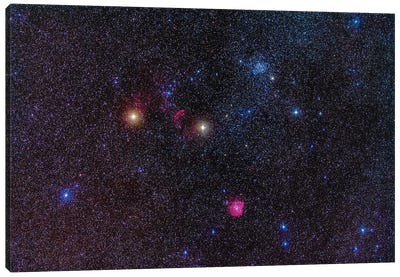 Field Of Clusters And Nebulosity In Gemini. Canvas Art Print