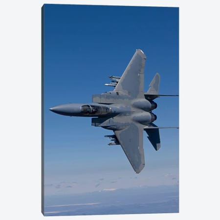 F-15 Eagle Conducts Air-To-Air Training Over Oregon Canvas Print #TRK300} by HIGH-G Productions Canvas Art