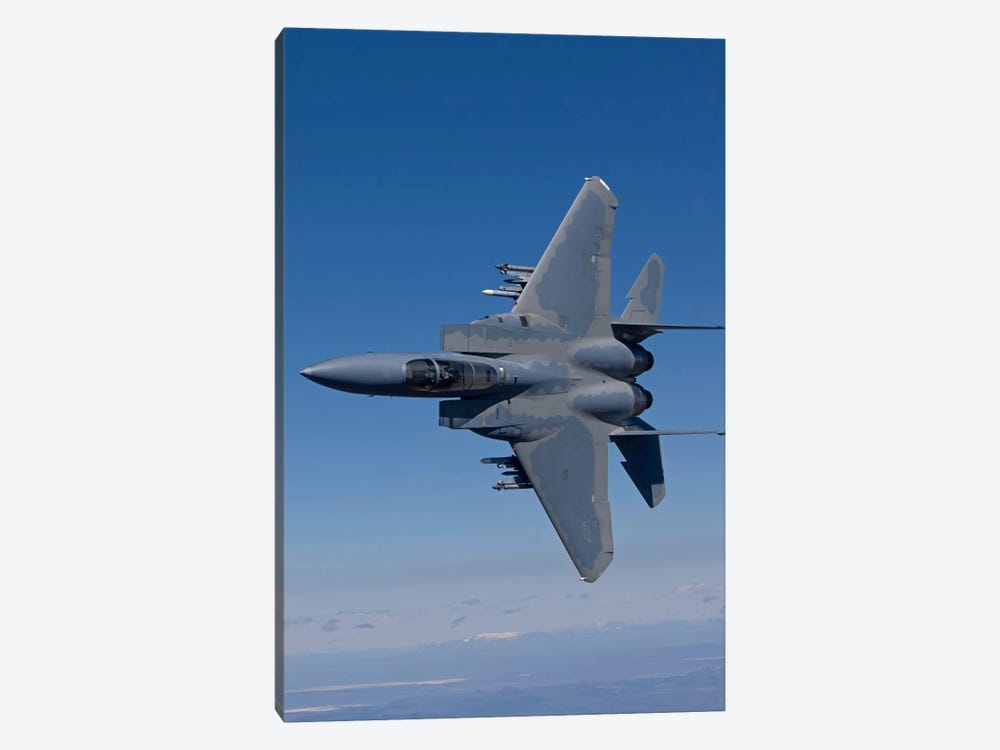 F-15 Eagle Conducts Air-To-Air Training Over Oregon by HIGH-G Productions 1-piece Canvas Print