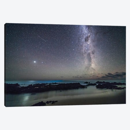 Jupiter And The Southern Milky Way Rising Over The Tasman Sea On The Gippsland Coast In Australia. Canvas Print #TRK3018} by Alan Dyer Canvas Artwork