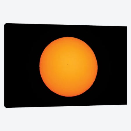 Mercury At The Middle Of Its Transit Across The Sun. Canvas Print #TRK3025} by Alan Dyer Canvas Art