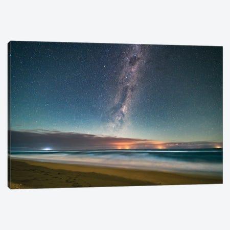 Milky Way Above The Tasman Sea, Victoria, Australia. Canvas Print #TRK3032} by Alan Dyer Canvas Artwork