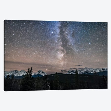 Milky Way Over Athabasca Pass, Alberta, Canada. Canvas Print #TRK3038} by Alan Dyer Canvas Art