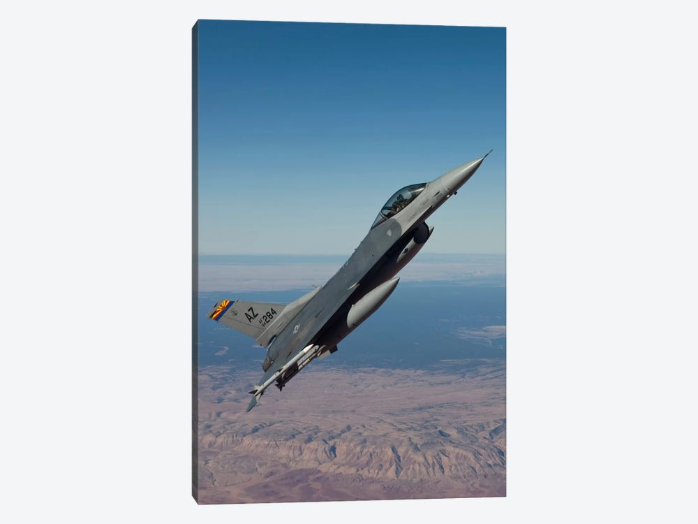 F-16 Fighting Falcon Maneuvers Over Arizona by HIGH-G Productions 1-piece Canvas Art