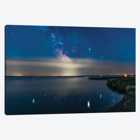 Milky Way Over Mcgregor Lake In The Solstice Twilight, Alberta, Canada. Canvas Print #TRK3040} by Alan Dyer Canvas Art Print