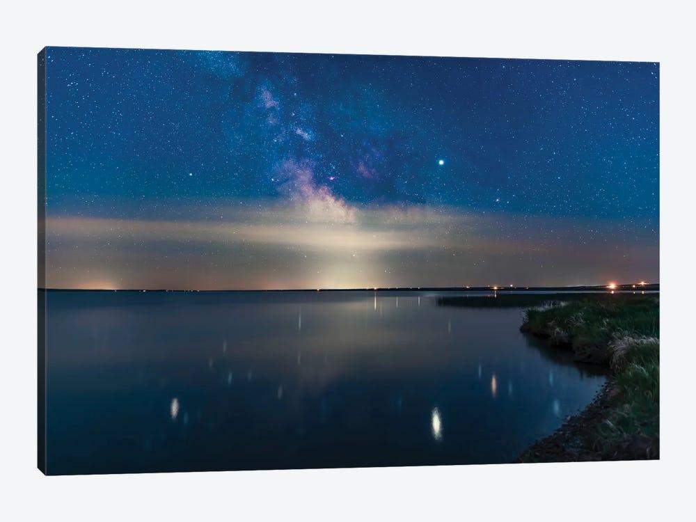 Milky Way Over Mcgregor Lake In The Solstice Twilight, Alberta, Canada. by Alan Dyer 1-piece Art Print