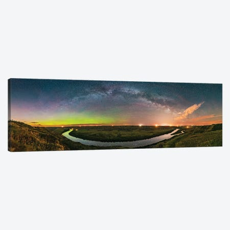 Milky WayâArching Over The Scenic Bend Of The Red Deer River, Alberta, Canada. Canvas Print #TRK3045} by Alan Dyer Canvas Wall Art