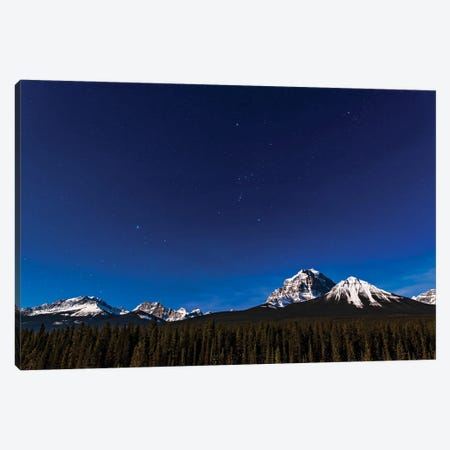 Orion And Canis Major Over Mt. Temple In Banff National Park, Canada. Canvas Print #TRK3065} by Alan Dyer Canvas Artwork