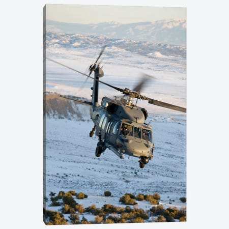 HH-60G Pave Hawk Flies A Low Level Route Over New Mexico Canvas Print #TRK306} by HIGH-G Productions Art Print