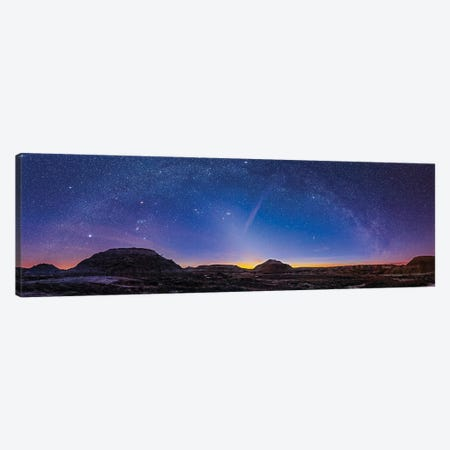 Orion And The Winter Stars At Dinosaur Provincial Park, Alberta Canada. Canvas Print #TRK3074} by Alan Dyer Canvas Art Print