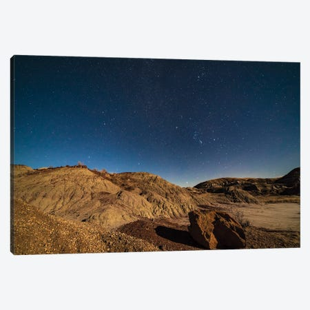 Orion And The Winter Stars Rising Over Dinosaur Provincial Park, Alberta, Canada. Canvas Print #TRK3077} by Alan Dyer Canvas Art Print