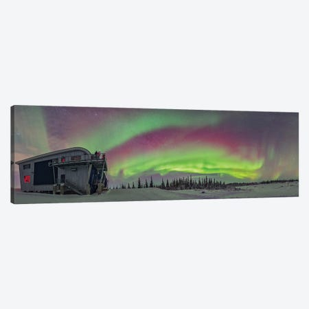 Panorama Of Auroral Arcs On The Shore Of Hudson Bay, Canada. Canvas Print #TRK3087} by Alan Dyer Canvas Wall Art
