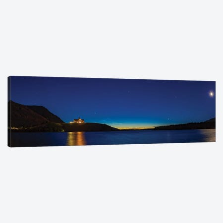 Panorama Of Comet Neowise Over The Prince Of Wales Hotel, Waterton Lakes National Park, Canada. Canvas Print #TRK3089} by Alan Dyer Canvas Print