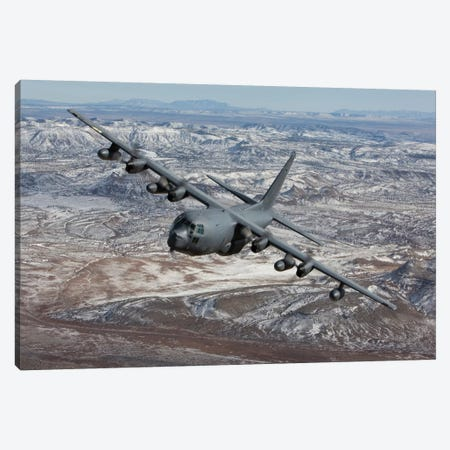 MC-130 Aircraft Maneuvers During A Training Mission Over New Mexico I Canvas Print #TRK308} by HIGH-G Productions Canvas Artwork