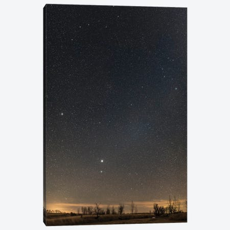 Panorama Of The Northern Spring Sky Showing Virgo, Corvus, Coma Berenices And Leo. Canvas Print #TRK3097} by Alan Dyer Art Print