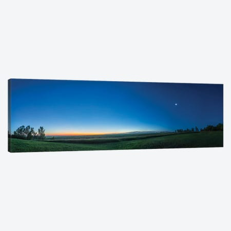 Panorama Of The Waning Quarter Moon In The Dawn Sky. Canvas Print #TRK3099} by Alan Dyer Canvas Art