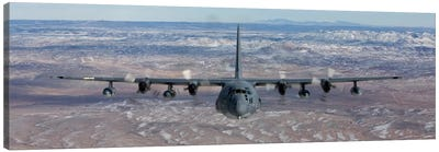 MC-130 Aircraft Maneuvers During A Training Mission Over New Mexico II Canvas Art Print