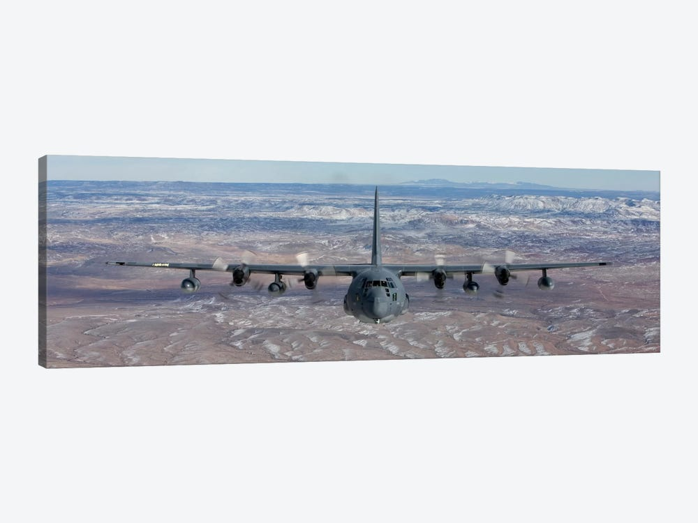 MC-130 Aircraft Maneuvers During A Training Mission Over New Mexico II by HIGH-G Productions 1-piece Canvas Wall Art