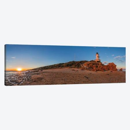Setting Sun At Point Lonsdale Lighthouse Near Queenscliff, Victoria, Australia. Canvas Print #TRK3124} by Alan Dyer Canvas Art Print