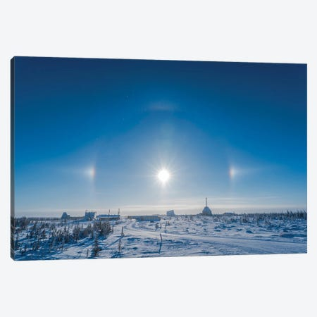 Sundogs Over The Old Churchill Rocket Range, Churchill, Manitoba, Canada. Canvas Print #TRK3138} by Alan Dyer Canvas Art Print