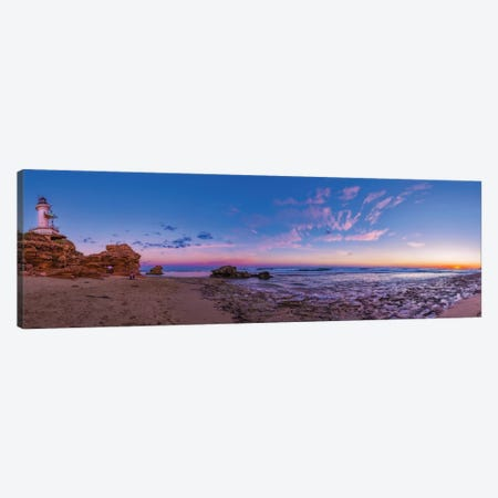Sunset At Point Lonsdale Lighthouse Near Queenscliff, Victoria, Australia. Canvas Print #TRK3139} by Alan Dyer Art Print