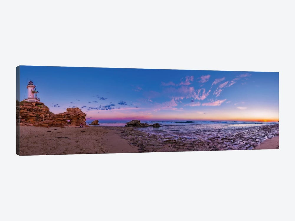 Sunset At Point Lonsdale Lighthouse Near Queenscliff, Victoria, Australia. by Alan Dyer 1-piece Canvas Artwork