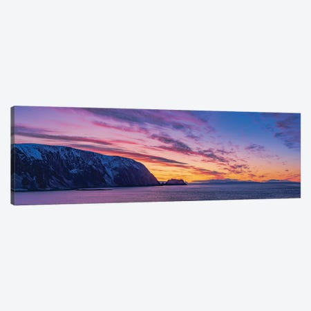 Sunset Over The Sea Cliffs Of Finnkirka, Norway. Canvas Print #TRK3142} by Alan Dyer Canvas Art