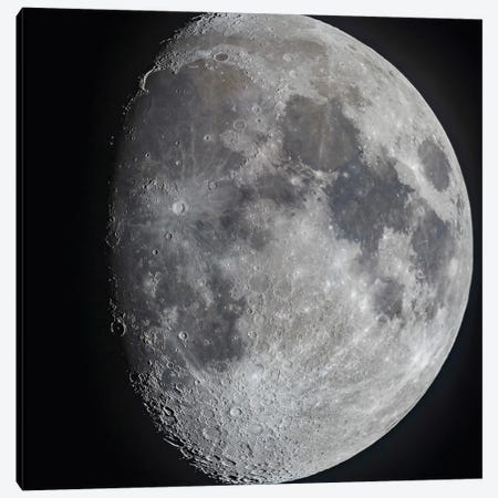 The 10 Day Old Gibbous Moon. Canvas Print #TRK3145} by Alan Dyer Art Print
