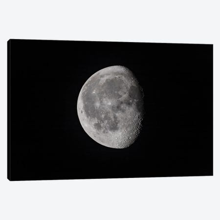 The 18-Day-Old Waning Gibbous Moon. Canvas Print #TRK3149} by Alan Dyer Canvas Artwork