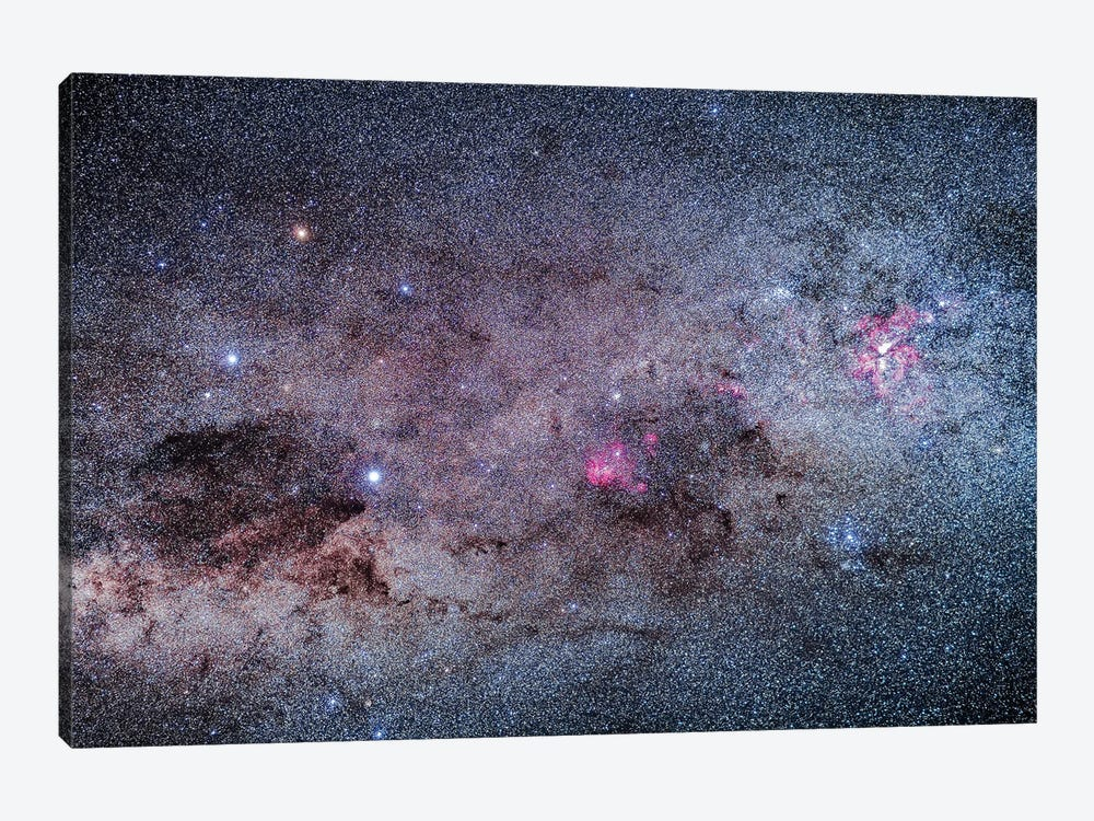 The Amazing Area Of The Southern Milky Way In Carina And Crux. by Alan Dyer 1-piece Canvas Print