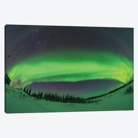 The Arc Of The Auroral Oval Across The Northern Sky, In Churchill, Manitoba, Canada. Canvas Print #TRK3163} by Alan Dyer Canvas Art